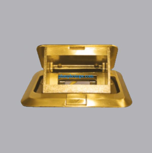 Ổ cắm âm sàn kiểu vuông màu vàng FY-60 1