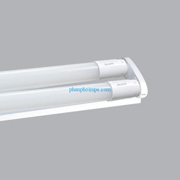 Bộ máng đèn batten led tube thủy tinh T8 bóng đôi màu trắng 1m2 MGT-220T 3