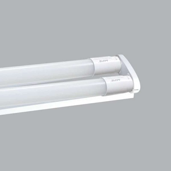 Bộ máng đèn Batten Led Tube siêu mỏng nhôm T8 bóng đôi màu vàng 1m2 MLT-220V 2