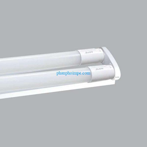 Bộ máng đèn batten led tube siêu mỏng nhôm T8 bóng đôi màu trắng 60cm MLT-210T 2