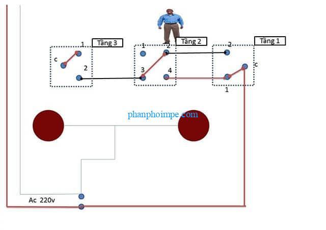 [5*] Sơ đồ mạch điện cầu thang đầy đủ và chi tiết cho người mới bắt đầu 2